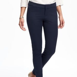 Old Navy Mid-Rise Pixie Full-Length Pants Navy